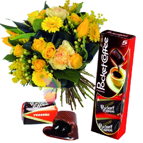 Bouquet misto con Pocket Coffee