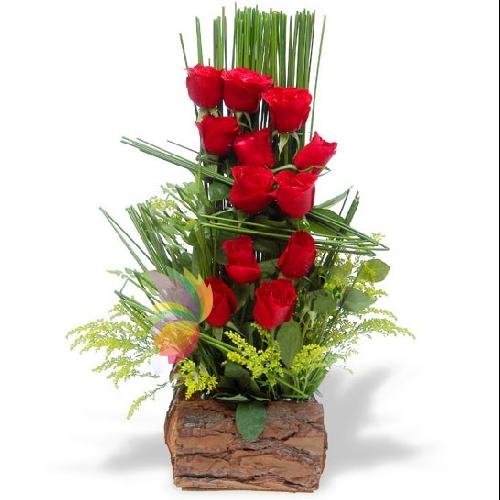Bien-aimé Composizioni con rose cesti con rose mazzi di rose rosse  MJ16