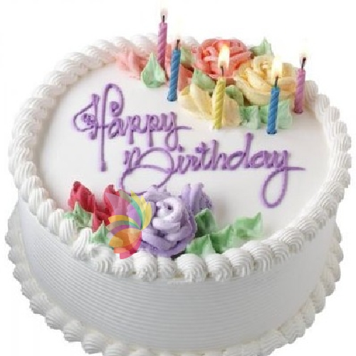 Super Torta Pan di Spagna e crema per compleanno con scritta  YA62