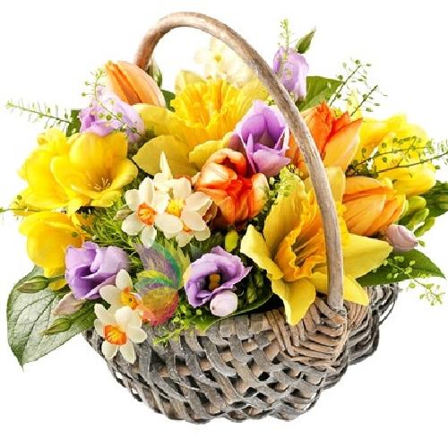 Preferenza Bellissimo cesto primaverile con fiori misti | Spediamo fiori  UI36