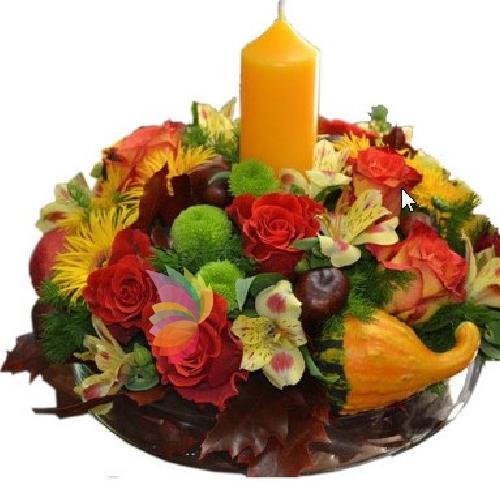 Centrotavola autunnale spediamo fiori dolci e regali a - Centrotavola autunnale ...