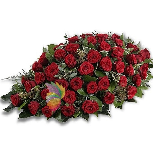 Cuscino di rose rosse