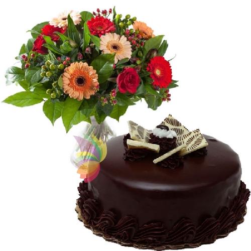 Top Fiori e torta al cioccolato | Spediamo fiori, dolci e regali a  UJ36