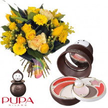 immagine Bouquet giallo e Pierrot Small bronzo