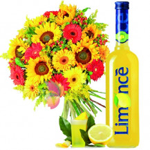 immagine Bouquet luminoso e Limoncello
