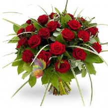 immagine Bouquet con 24 rose rosse