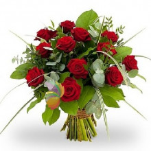 immagine Bouquet con 12 rose rosse