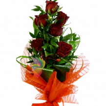 immagine Bouquet di sei rose rosse